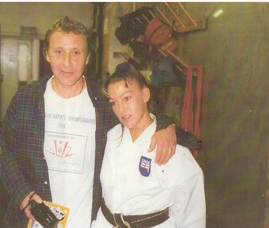 Steve with Daughter, British Karate Champion