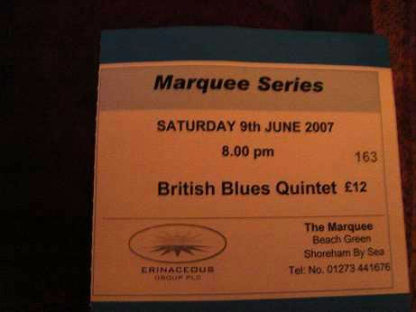 Ticket to recent gig (Yes, I paid!)
