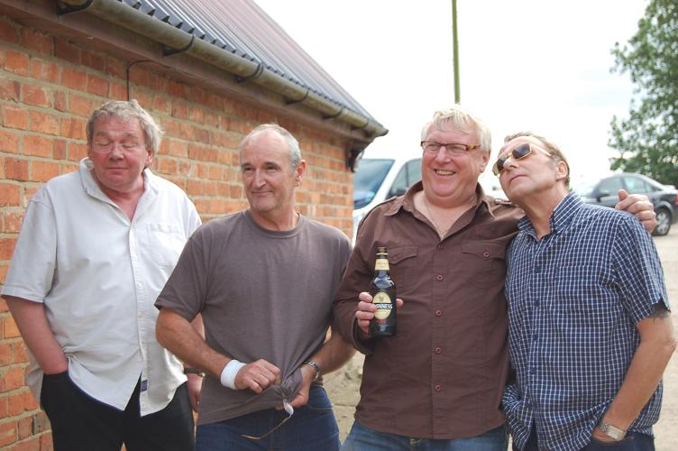 Charisma, Dave, Frogman & Steve have a break
