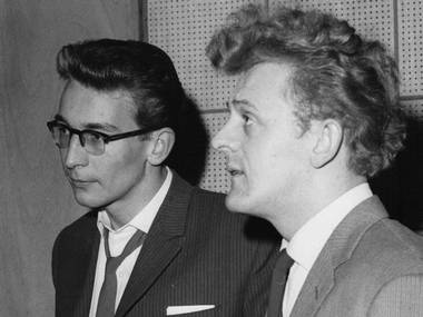 Mike Smith (left) Record Producer for LOVE AFFAIR/Georgie Fame/The Marmalade & a host of others. Quote from Steve - Mike was a great guy & produced some 60`s classics with Mike Ross Engineering